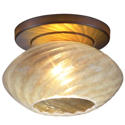 Pandora 1-Light Flush Mount Finish: Bronze