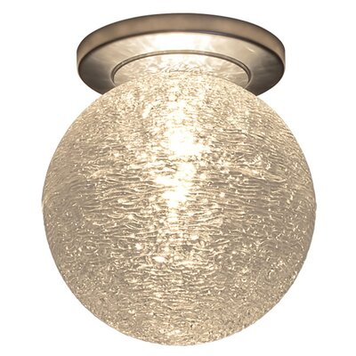 Dazzle 1-Light Flush Mount Color: Matte Chrome, Shade Color: Clear
