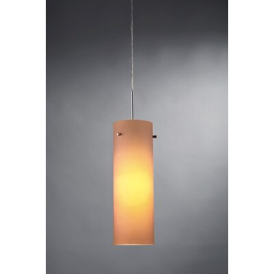 Titan 1-Light Monopoint Mini Pendant Color: Chrome, Shade Color: Amber