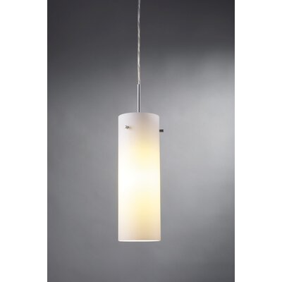 Titan 1-Light Monopoint Mini Pendant Color: Matte Chrome, Shade Color: Blue