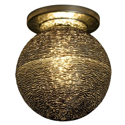 Dazzle 1-Light Flush Mount Color: Bronze, Shade Color: Black