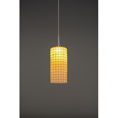 Sierra 1-Light Monopoint Mini Pendant Color: Matte Chrome, Shade Color: Amber