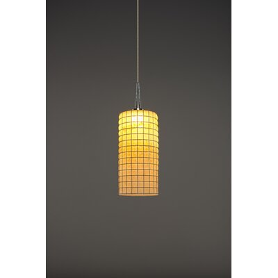 Sierra 1-Light Monopoint Mini Pendant Color: Chrome, Shade Color: Amber
