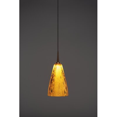 Zara 1-Light Mini Pendant Finish: Bronze