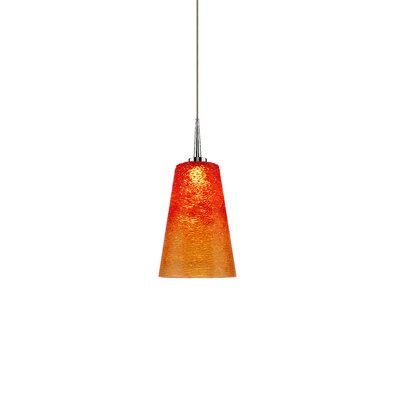 Bling 1-Light Mini Pendant Color: Chrome, Shade Color: Sunrise