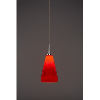 Zara 1-Light Mini Pendant Finish: Chrome