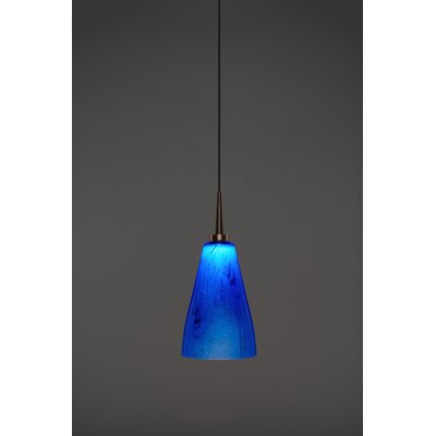 Zara 1-Light Mini Pendant Color: Bronze