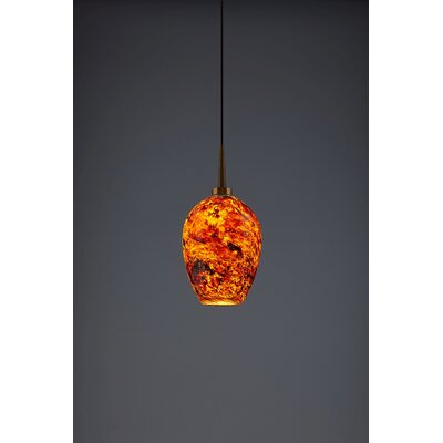 Bolero 1-Light Mini Pendant Color: Bronze, Shade Color: Autumn Leaf