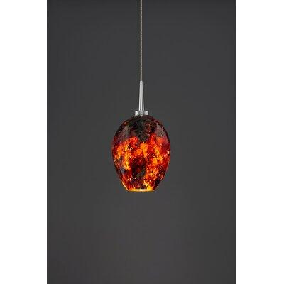 Bolero 1-Light Mini Pendant Color: Matte Chrome, Shade Color: Autumn Leaf