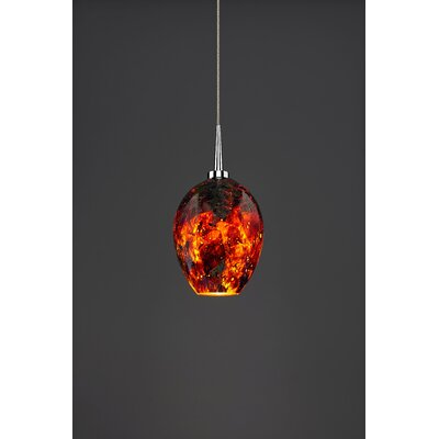 Bolero 1-Light Mini Pendant Finish: Chrome, Shade Color: Autumn Leaf