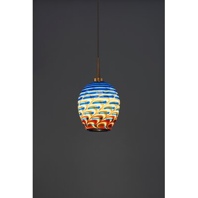 Bolero 1-Light Mini Pendant Finish: Bronze