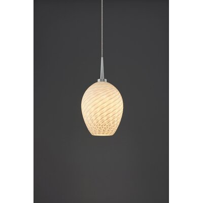 Bolero 1-Light Mini Pendant Color: Matte Chrome