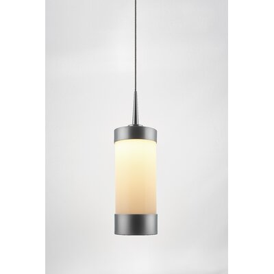Silva 1-Light Mini Pendant Color: Matte Chrome, Shade Color: White