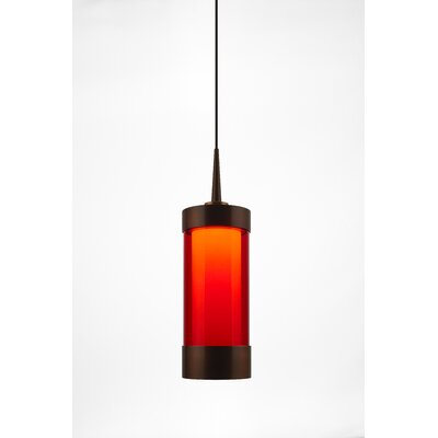 Silva 1-Light Mini Pendant Finish: Bronze, Shade Color: Red