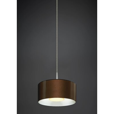 Jaggers 1-Light LED Drum Pendant Finish: Matte Chrome