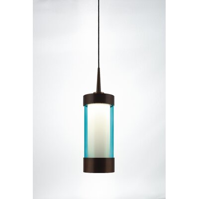 Silva 1-Light Mini Pendant Color: Bronze, Shade Color: Turquoise