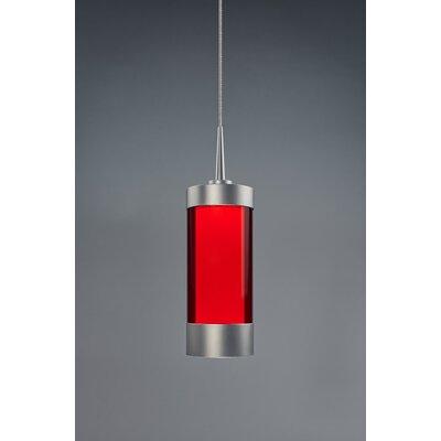 Silva 1-Light Mini Pendant Finish: Matte Chrome, Shade Color: Red