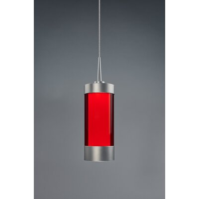 Silva 1-Light Mini Pendant Color: Matte Chrome, Shade Color: Red
