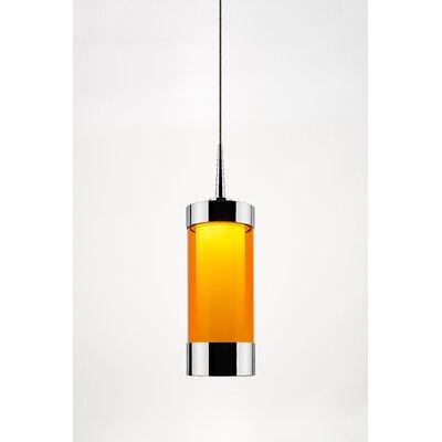 Silva 1-Light Mini Pendant Shade Color: Orange, Finish: Chrome