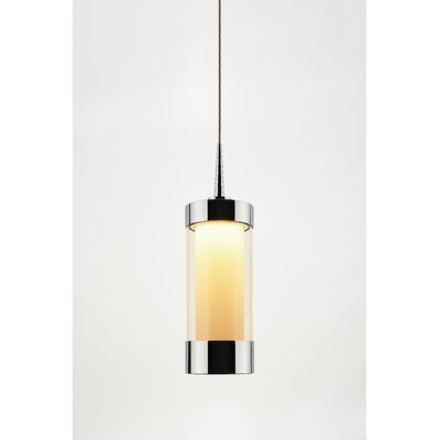 Silva 1-Light Mini Pendant Finish: Chrome, Shade Color: Smoky