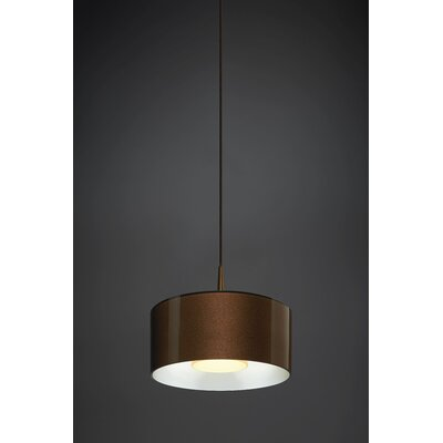 Jaggers 1-Light LED Drum Pendant Finish: Bronze