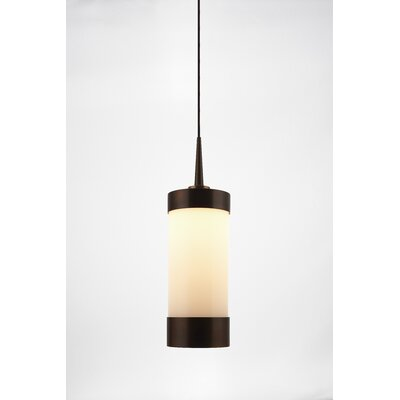 Silva 1-Light Mini Pendant Color: Matte Chrome, Shade Color: Orange