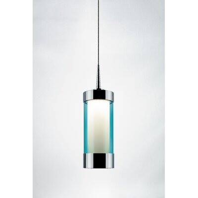 Silva 1-Light Mini Pendant Color: Chrome, Shade Color: Turquoise