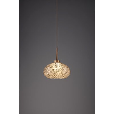 Laguna 1-Light Globe Pendant Finish: Bronze
