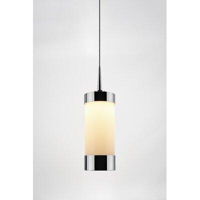 Silva 1-Light Mini Pendant Finish: Chrome, Shade Color: White