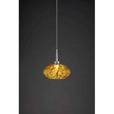 Pandora 1-Light Globe Pendant Finish: Chrome
