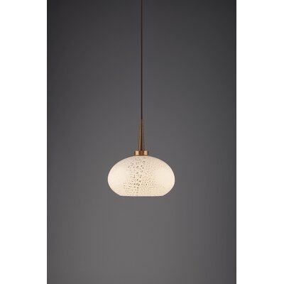 Laguna 1-Light Globe Pendant Color: Bronze