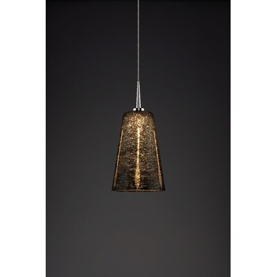 Bling 1-Light Mini Pendant Finish: Chrome, Shade Color: Black