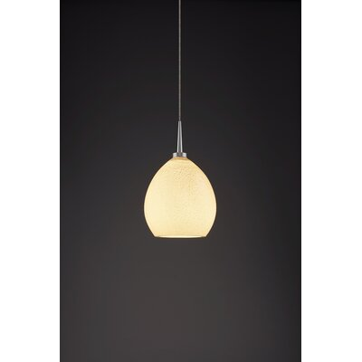 Vibe 1-Light Monopoint Globe Pendant Color: Matte Chrome