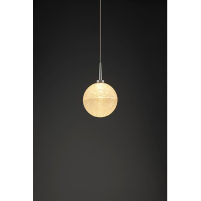 Dazzle 1-Light Monopoint Globe Pendant Color: Matte Chrome, Shade Color: Clear