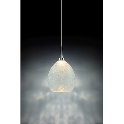 Vibe 1-Light Globe Pendant Color: Chrome, Shade Color: Glacier