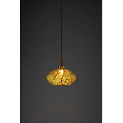 Pandora 1-Light Globe Pendant Finish: Bronze