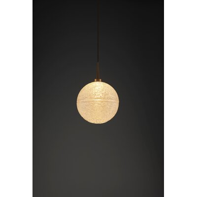 Dazzle 1-Light Globe Pendant Color: Bronze, Shade Color: Clear