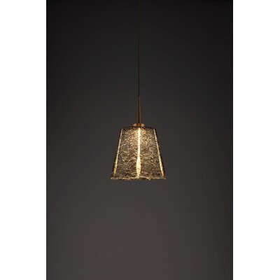 Bling 1-Light Mini Pendant Color: Bronze, Shade Color: Black