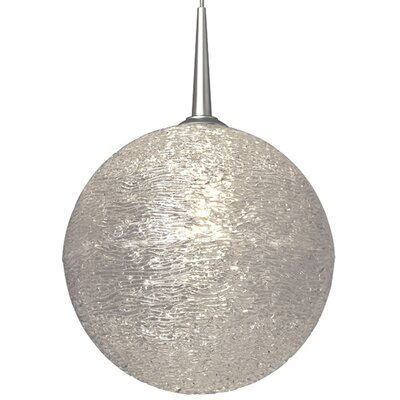 Dazzle 1-Light Globe Pendant Shade Color: Clear, Finish: Matte Chrome