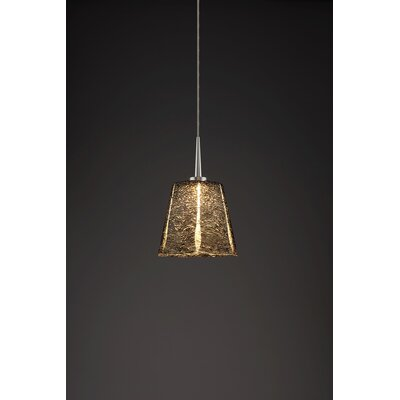 Bling 1-Light Mini Pendant Color: Matte Chrome, Shade Color: Black