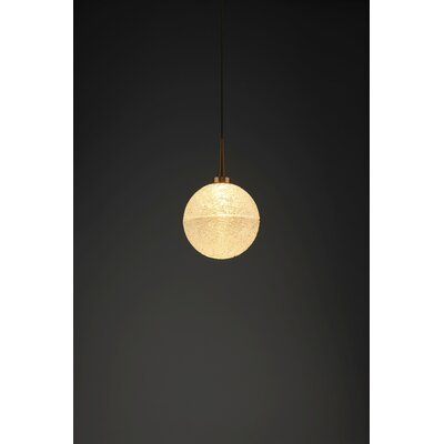 Dazzle 1-Light Monopoint Globe Pendant Finish: Bronze, Shade Color: Clear