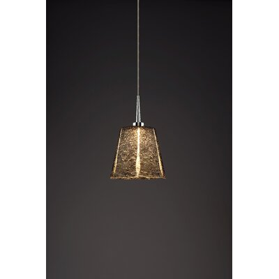 Bling 1-Light Mini Pendant Color: Chrome, Shade Color: Black