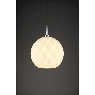 Sirena 1-Light Mini Pendant Color: Chrome, Shade Color: White