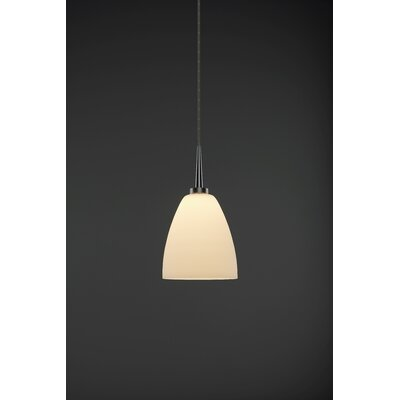 Tara 1-Light Monopoint Mini Pendant Color: Matte Chrome