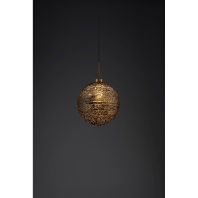 Dazzle 1-Light Globe Pendant Color: Bronze, Shade Color: Black