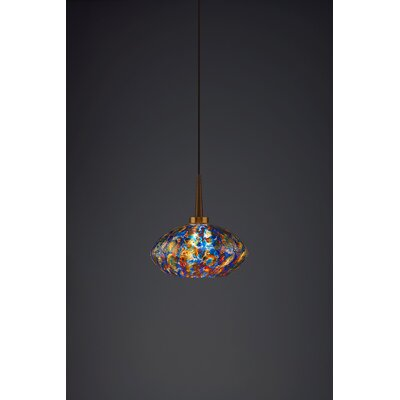 Pandora 1-Light Globe Pendant Finish: Bronze