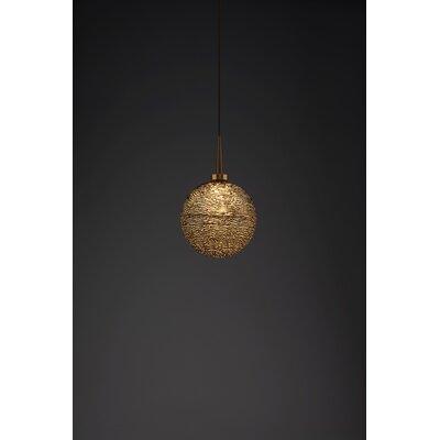 Dazzle 1-Light Monopoint Globe Pendant Finish: Bronze, Shade Color: Black
