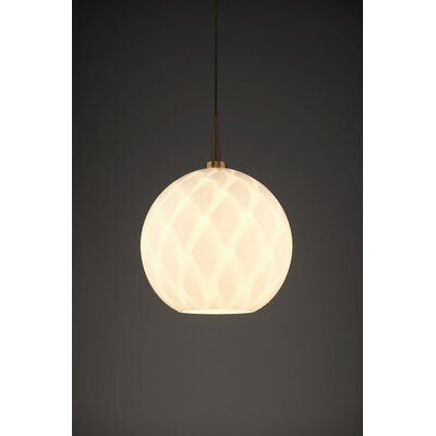 Sirena 1-Light Mini Pendant Finish: Bronze, Shade Color: White