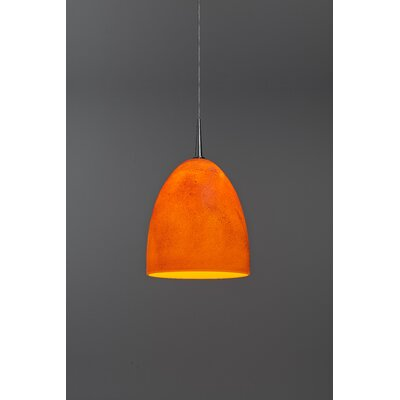 Alexander 1-Light  Monopoint Mini Pendant Shade Color: Tangerine, Finish: Matte Chrome