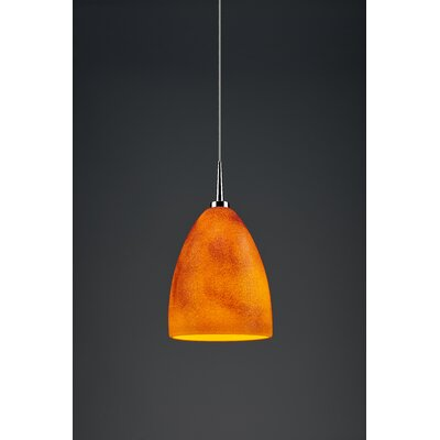 Alexander 1-Light  Monopoint Mini Pendant Color: Chrome, Shade Color: Tangerine